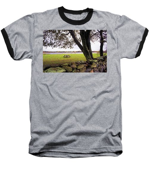 Looking Over The Wall Baseball T-Shirt