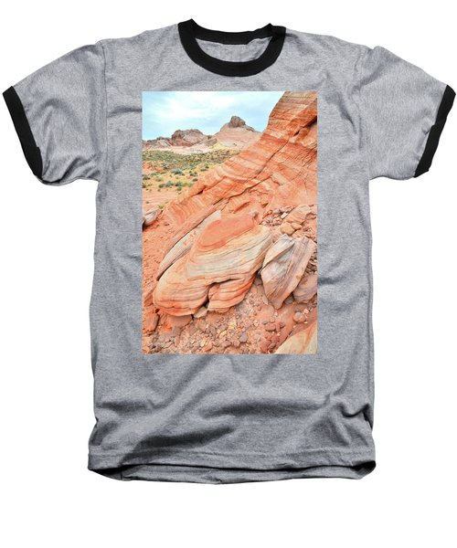 Baseball T-Shirt featuring the photograph Looking South In Valley Of Fire by Ray Mathis