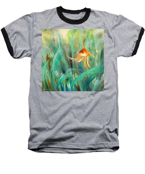 Looking - Square Painting Baseball T-Shirt