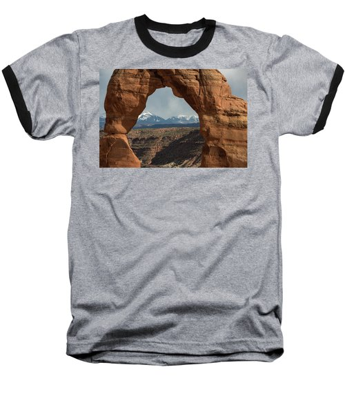 Looking Through Delicate Arch Baseball T-Shirt