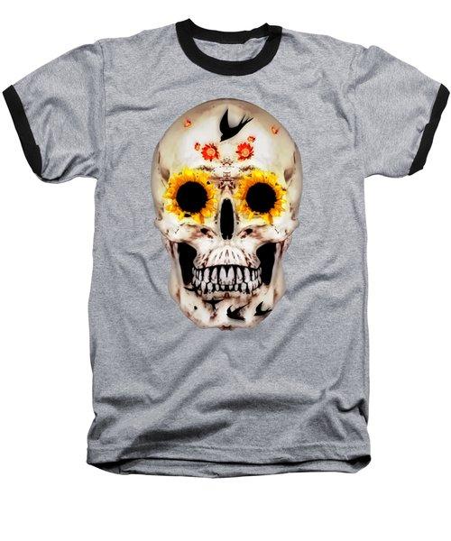 Looking Through Sunflowers Baseball T-Shirt