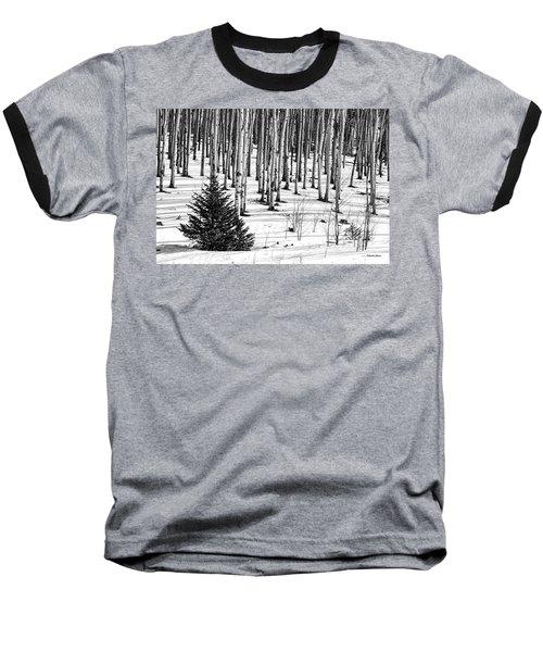 Looking Through The Aspen Black And White Baseball T-Shirt