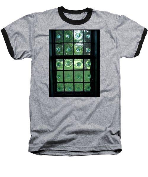 Looking Thru Bubble Glass Window Baseball T-Shirt by Catherine Gagne