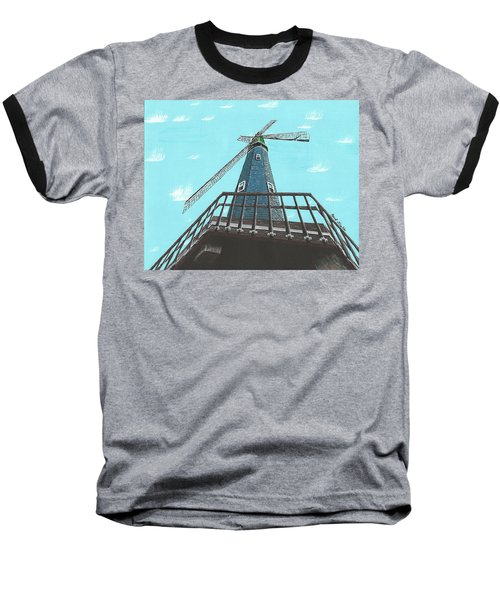 Looking Up At A Windmill Baseball T-Shirt