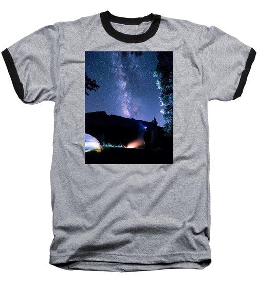 Looking Up At Milky Way Baseball T-Shirt