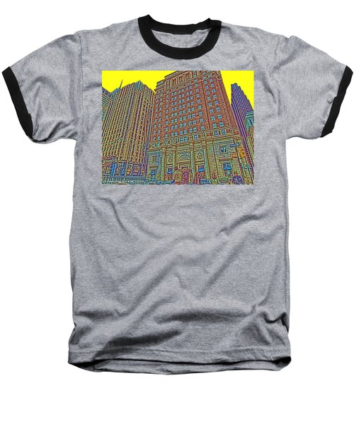 Looking Up In Love Park Baseball T-Shirt