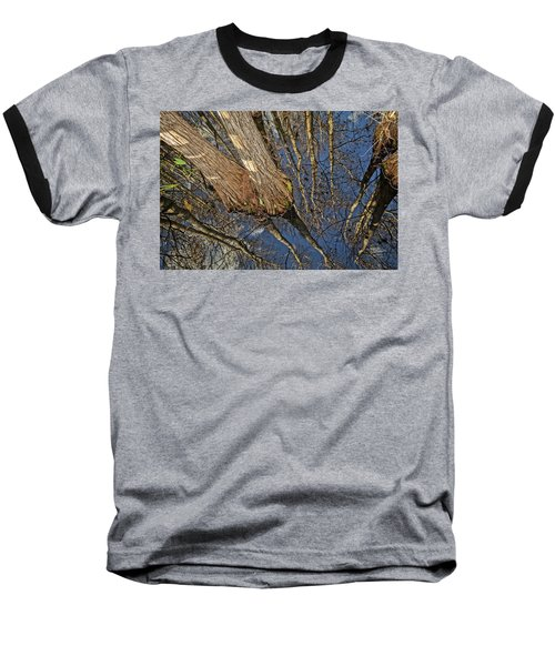 Baseball T-Shirt featuring the photograph Looking Up While Looking Down by Debra and Dave Vanderlaan