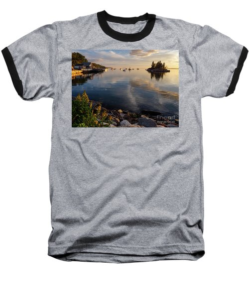 Lookout Point, Harpswell, Maine  -99044-990477 Baseball T-Shirt by John Bald