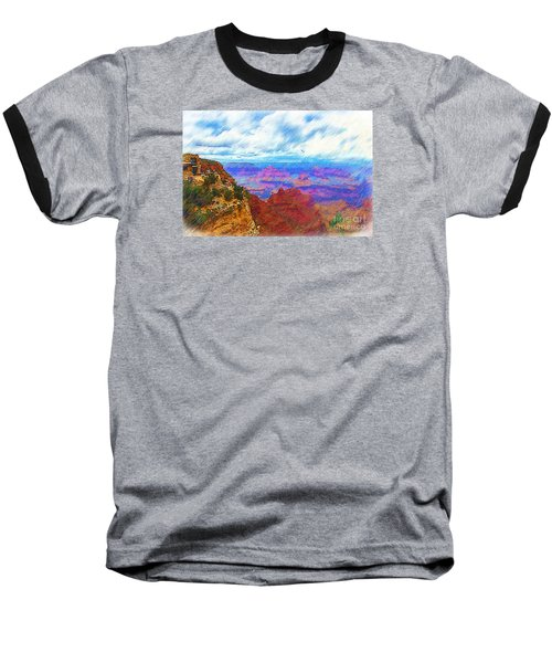Baseball T-Shirt featuring the digital art Lookout Studio Sketched by Kirt Tisdale
