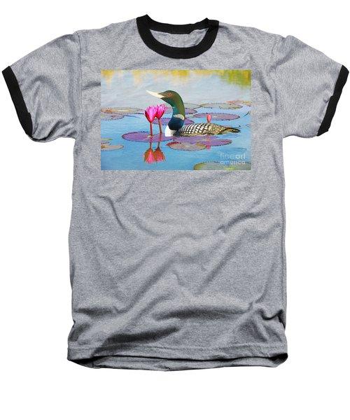 Loon And Lotus Baseball T-Shirt