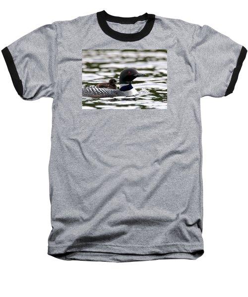 Loon Chick Baseball T-Shirt