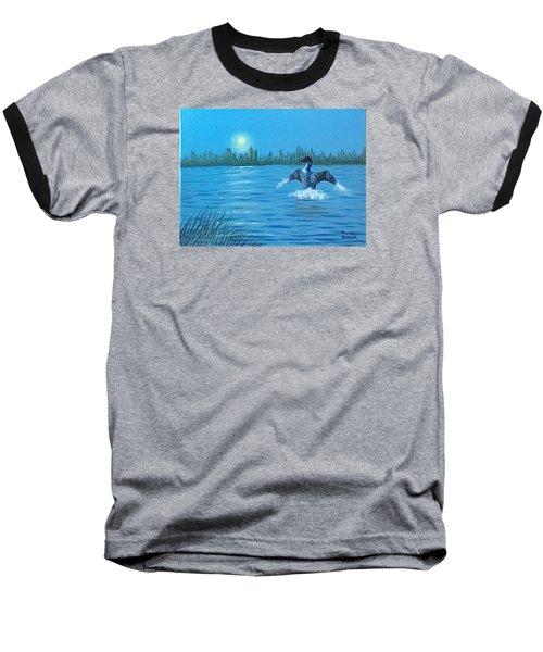 Loon Dance Baseball T-Shirt