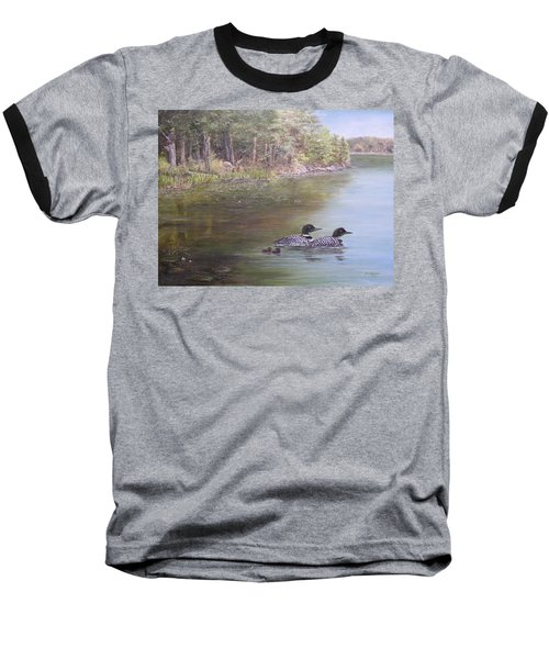 Loon Family 1 Baseball T-Shirt