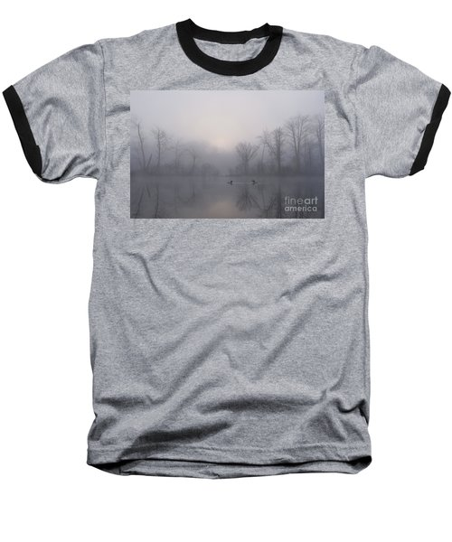 Loons In The Fog Baseball T-Shirt