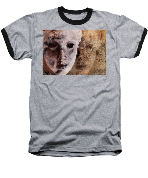 Baseball T-Shirt featuring the digital art Loosing The Real You Behind The Mask by Gun Legler