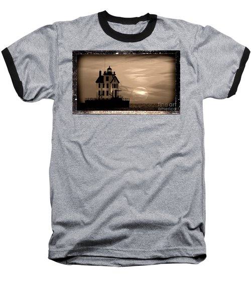 Lorain Lighthouse - Lake Erie - Lorain Ohio Baseball T-Shirt