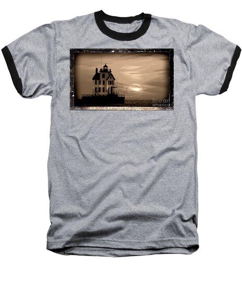 Lorain Lighthouse - Lake Erie - Lorain Ohio Baseball T-Shirt