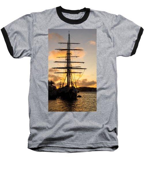 Lord Nelson Sunrise Baseball T-Shirt by Jeff at JSJ Photography
