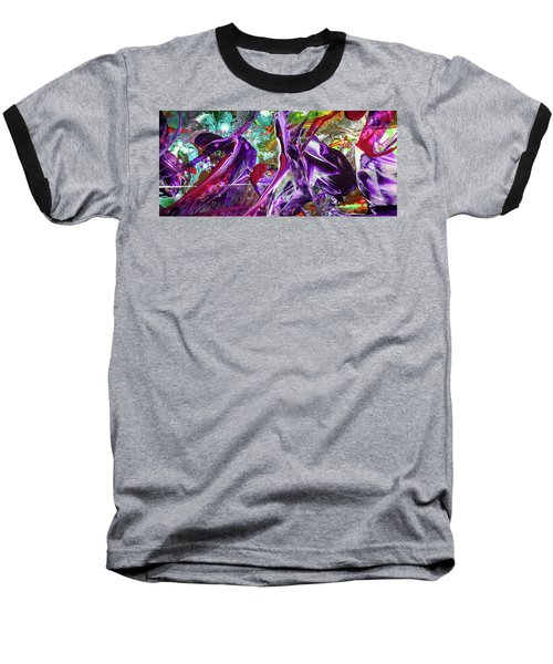 Lord Of The Rings Art - Colorful Modern Abstract Painting Baseball T-Shirt by Modern Art Prints
