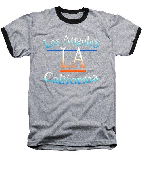 Los Angeles California Tshirt Design Baseball T-Shirt by Art America Gallery Peter Potter