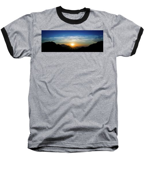 Los Angeles Desert Mountain Sunset Baseball T-Shirt