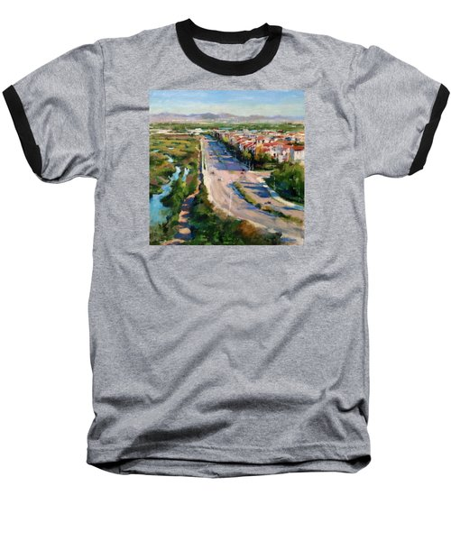 Los Angeles - Playa Vista From South Bluff Trail Road Baseball T-Shirt