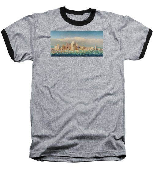 Los Angeles Sunset Baseball T-Shirt by Douglas Castleman
