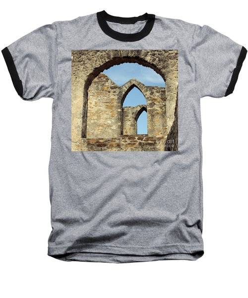 Los Arcos De La Mision San Jose Baseball T-Shirt by Joe Jake Pratt