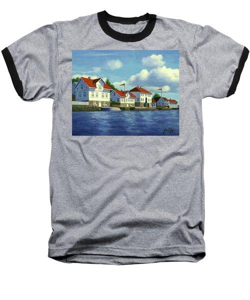 Loshavn Village Norway Baseball T-Shirt by Janet King