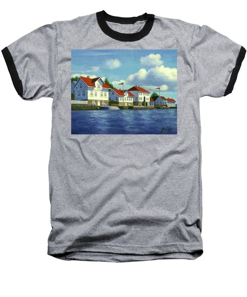Loshavn Village Norway Baseball T-Shirt