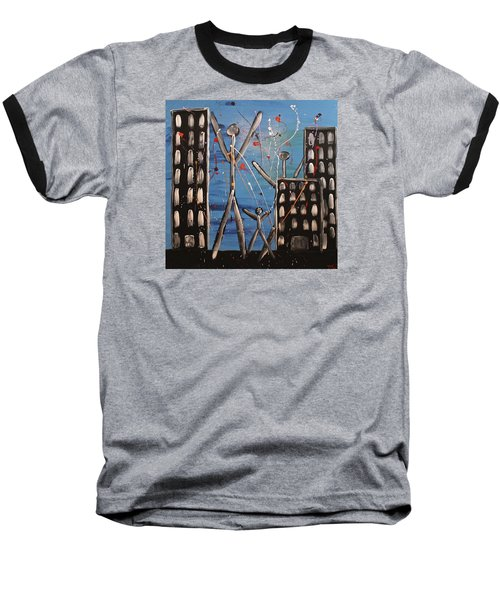 Lost Cities 13-003 Baseball T-Shirt by Mario Perron