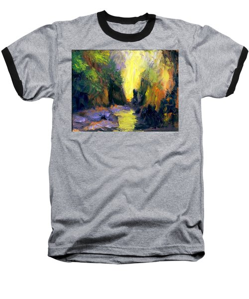 Baseball T-Shirt featuring the painting Lost Creek by Gail Kirtz