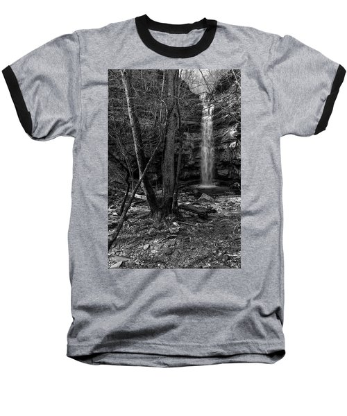 Lost Creek In Black And White Baseball T-Shirt