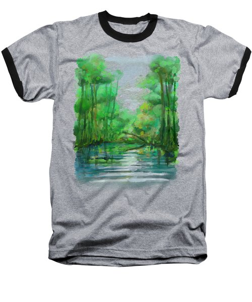 Baseball T-Shirt featuring the painting Lost In Colors  by Ivana Westin