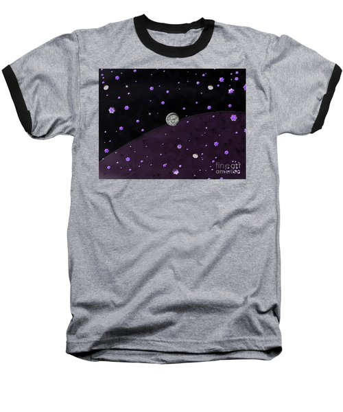 Lost In Midnight Charcoal Stars Baseball T-Shirt