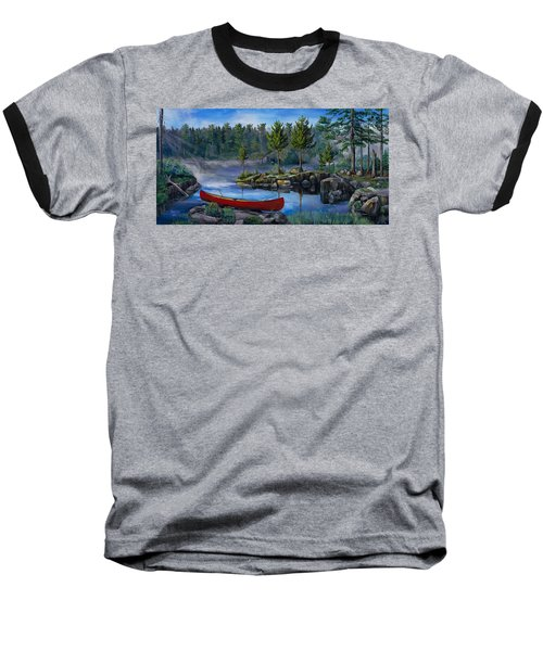 Lost In The Boundary Waters Baseball T-Shirt