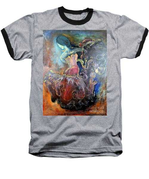 Lost In The Motion Baseball T-Shirt by Farzali Babekhan