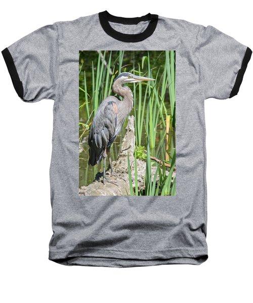 Lost Lagoon Heron Baseball T-Shirt