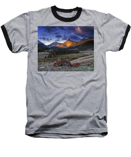 Lost River Mountains Moon Baseball T-Shirt