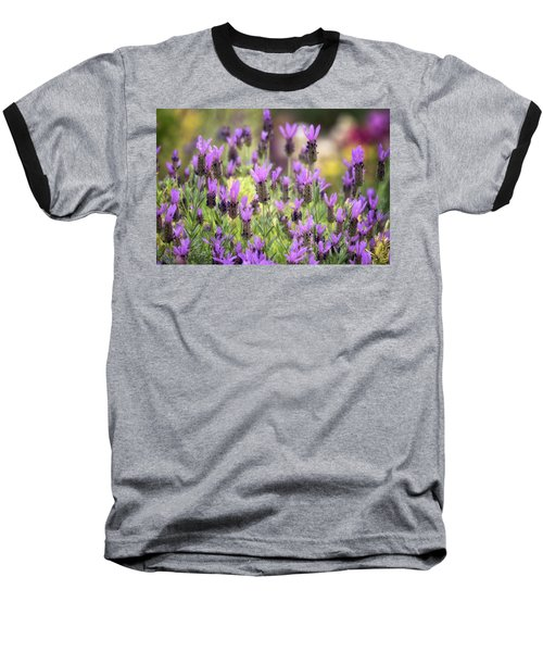 Baseball T-Shirt featuring the photograph Lots Of Lavender  by Saija Lehtonen