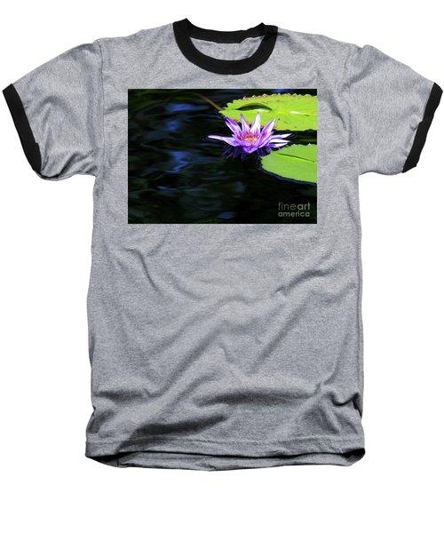 Lotus And Dark Water Refection Baseball T-Shirt