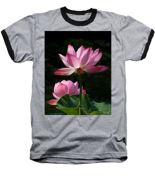 Lotus Beauties--upstaged Dl048 Baseball T-Shirt by Gerry Gantt