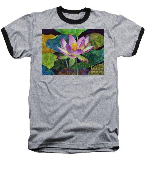 Lotus Bloom Baseball T-Shirt by Hailey E Herrera
