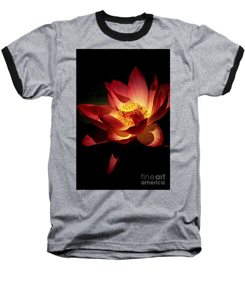 Lotus Blossom Baseball T-Shirt by Paul W Faust -  Impressions of Light