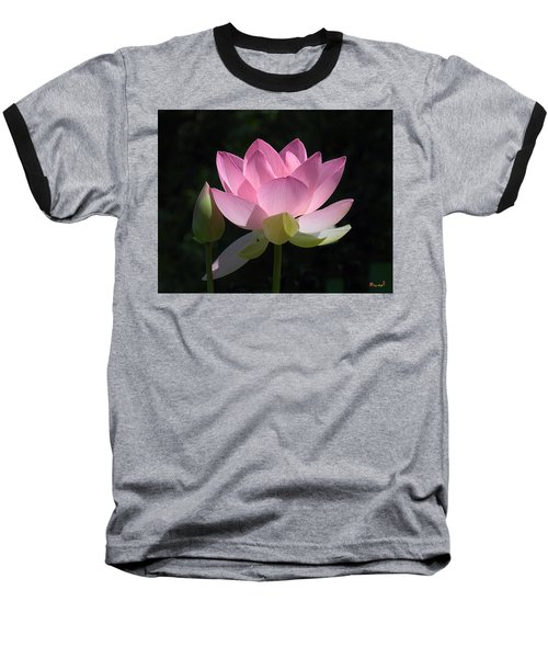 Lotus Bud--snuggle Bud Dl005 Baseball T-Shirt