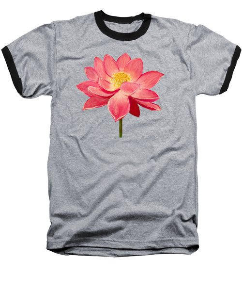 Lotus Flower Baseball T-Shirt by Anastasiya Malakhova