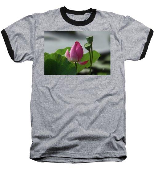 Lotus Flower In Pure Magenta Baseball T-Shirt