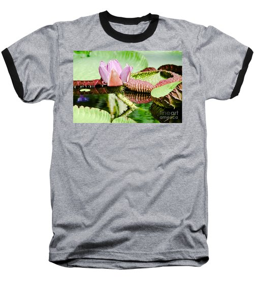 Baseball T-Shirt featuring the painting Lotus Flower In Water by Yurix Sardinelly