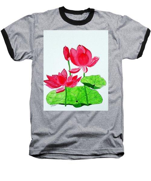 Lotus Flower Baseball T-Shirt