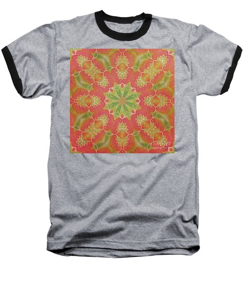Baseball T-Shirt featuring the drawing Lotus Garden by Mo T